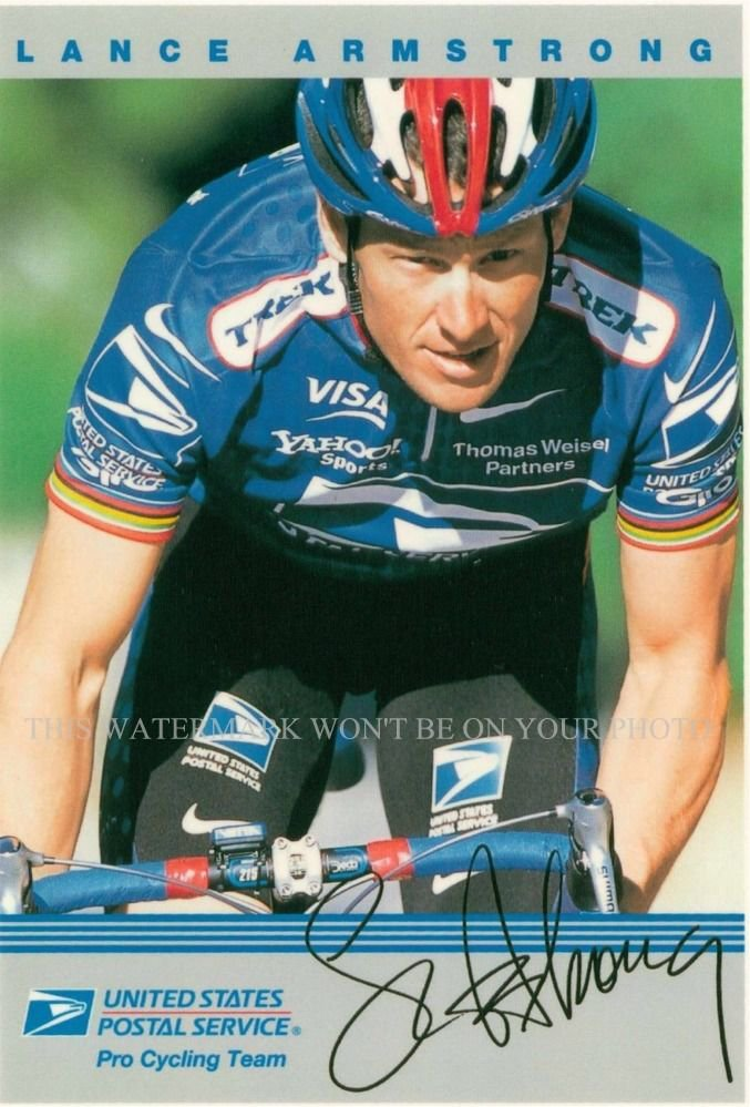 LANCE ARMSTRONG AUTOGRAPHED 6X9 RPT PHOTO GREAT ATHLETE