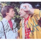 MICHAEL J FOX AND CHRISTOPHER LLOYD AUTOGRAPHED 8X10 RP PHOTO BACK TO THE FUTURE