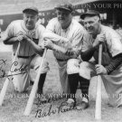 BABE RUTH AND TY COBB BASEBALL LEGENDS SIGNED AUTOGRAPHED 8x10 RPT PHOTO