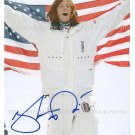 "SHAUN WHITE AUTOGRAPHED 8""X10"" RPT PHOTO WITH US FLAG OLYMPICS GOLD MEDALIST"
