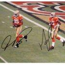 VERNON DAVIS AND MICHAEL CRABTREE SIGNED AUTOGRAPHED 8x10 RPT PHOTO SAN FRANCISCO 49ers