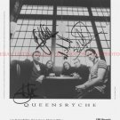 QUEENSRYCHE BAND GROUP SIGNED AUTOGRAPHED 8x10 RP PHOTO