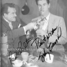 RED SKELTON AND JOHNNY CARSON AUTOGRAPHED SIGNED 8x10 RP PHOTO COMEDY