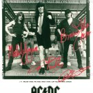 AC/DC GROUP BAND SIGNED AUTOGRAPHED RP PHOTO ACDC ALL 4