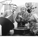 CAPTAIN KANGAROO CAST AUTOGRAPHED 8x10 RP PHOTO BOB KEESHAN AND FRED ROGERS