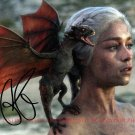 EMILIA CLARKE MOTHER OF DRAGONS BEAKER OF CHAINS AUTOGRAPHED 8x10 RP PHOTO
