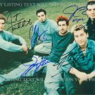 N'SYNC GROUP AUTOGRAPHED 8x10 RP PHOTO TIMBERLAKE BASS FATONE CHRIS  ALL 5 NSYNC
