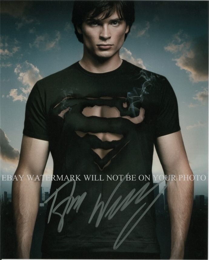 TOM WELLING SIGNED AUTOGRAPHED 8x10 RP PHOTO SUPERMAN SMALLVILLE