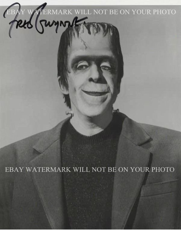 FRED GWYNNE AUTOGRAPHED 8x10 RP PHOTO HERMAN MUNSTER