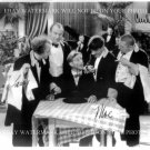 THE THREE STOOGES CAST AUTOGRAPHED 8x10 RP PHOTO