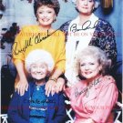 THE GOLDEN GIRLS CAST SIGNED AUTOGRAPHED 8x10 RP PHOTO BETTY WHITE BEA ARTHUR ALL FOUR