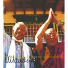NELSON MANDELA AND DALI LAMA AUTOGRAPHED 8x10 RP PHOTO FREEDOM