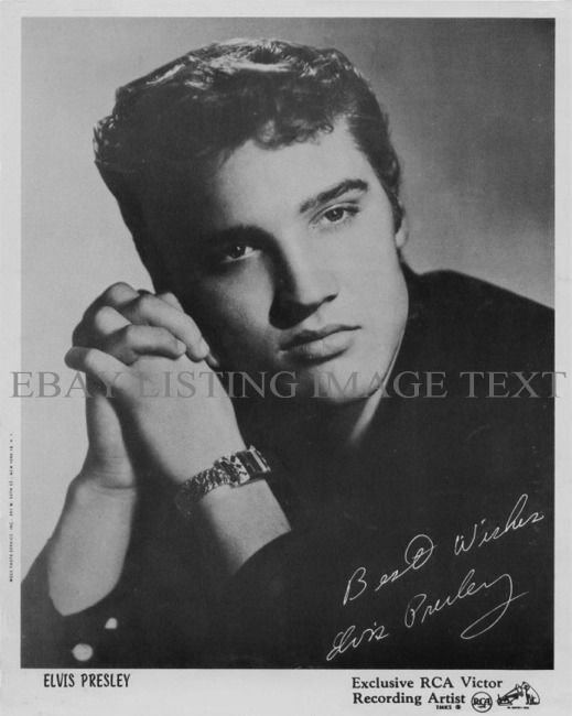 ELVIS PRESLEY AUTOGRAPHED 8x10 RP PROMO PHOTO ROCK N ROLL