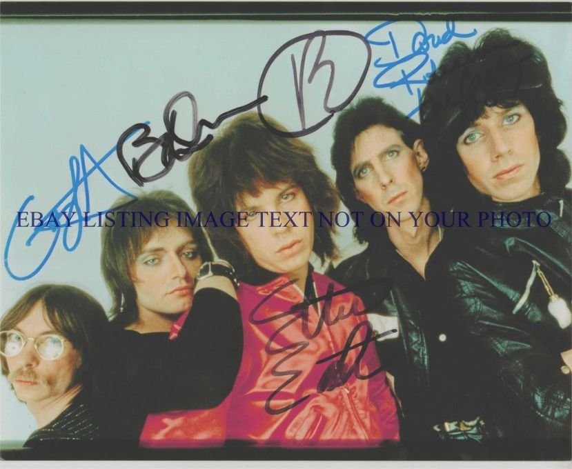 THE CARS GROUP AUTOGRAPHED 8x10 RP PHOTO  LET THE GOOD TIMES ROLL