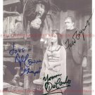 THE MUNSTERS CAST AUTOGRAPHED 8x10 RP PHOTO ALL 3 FRED GWYNNE