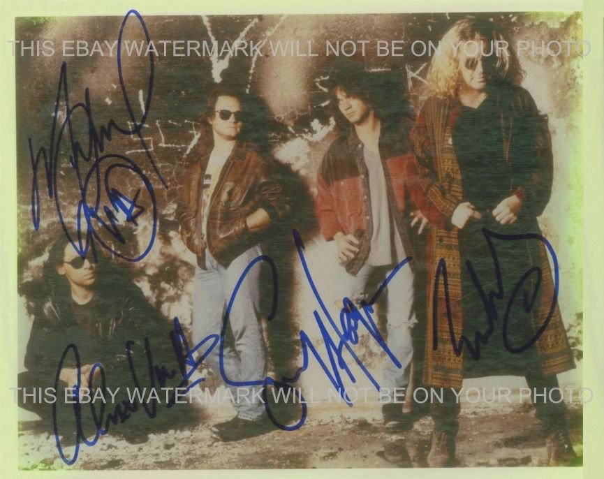 VAN HALEN WITH SAMMY HAGAR SIGNED AUTOGRAPHED 8x10 RP PHOTO INCREDIBLE BAND