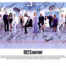 GREYS ANATOMY FULL CAST SIGNED AUTOGRAPHED 8x10 RP PHOTO BY 14 GREY'S