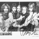 THE SCORPIONS BAND AUTOGRAPHED 8x10 RP PROMO PHOTO ROCK YOU LIKE A HURRICANE