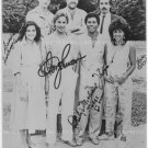 MIAMI VICE FULL CAST AUTOGRAPHED 8x10 RP PHOTO BY 7 CROCKETT TUBBS OLMOS