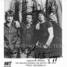THE ROLLING STONES AUTOGRAPHED 8x10 RP PROMO PHOTO MICK JAGGER KEITH RICHARDS
