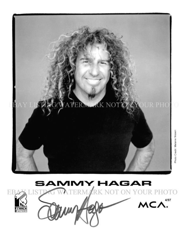 SAMMY HAGAR AUTOGRAPHED 8x10 RP PHOTO INCREDIBLE PERFORMER RED ROCKER