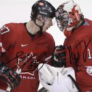 SIDNEY CROSBY AND ROBERTO LUONGO AUTOGRAPHED 8x10 RP PHOTO TEAM CANADA