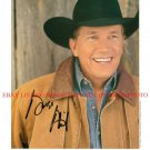 GEORGE STRAIT AUTOGRAPHED SIGNED 8x10 RP PUBLICITY PHOTO PURE COUNTRY MUSIC