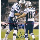 TOM BRADY AND WES WELKER AUTOGRAPHED 8x10 RP PHOTO NEW ENGLAND PATRIOTS DUO