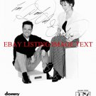 DONNY AND MARIE OSMOND AUTOGRAPHED 8x10 RP PHOTO THE OSMONDS DONNIE