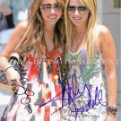 MILEY CYRUS AND ASHLEY TISDALE AUTOGRAPHED 8x10 RP PHOTO