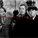 THE THREE STOOGES CAST AUTOGRAPHED 8x10 RP PHOTO LARRY CURLY AND MOE