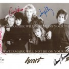HEART GROUP BAND AUTOGRAPHED 8x10 RP PROMO PHOTO ANN NANCY WILSON