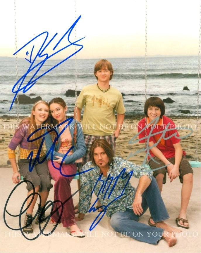 HANNAH MONTANA CAST AUTOGRAPHED 8x10 RP PHOTO MILEY CYRUS