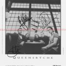QUEENSRYCHE BAND AUTOGRAPHED 8x10 RP PROMO PHOTO ALL 4  METAL ROCK
