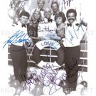 THE LOVE BOAT FULL CAST AUTOGRAPHED 8x10 RP PHOTO GAVIN MacLEOD BERNIE KOPELL
