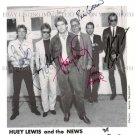 HUEY LEWIS AND THE NEWS AUTOGRAPHED 8x10 RP PHOTO GREAT CLASSIC ROCK
