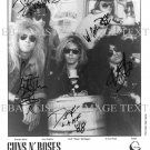 GUNS N ROSES BAND AUTOGRAPHED 8x10 RP PHOTO GNR SLASH IZZY AXL DUFF AND STEVEN