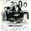 DIRE STRAITS BAND AUTOGRAPHED 8x10 RP PHOTO SULTANS OF SWING