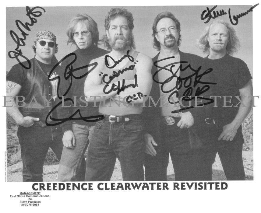 CCR CREEDENCE CLEARWATER REVISITED BAND AUTOGRAPHED 8x10 RP PHOTO