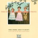 PETTICOAT JUNCTION CAST AUTOGRAPHED 8x10 RP PHOTO BETTY BOBBIE BILLIE JO