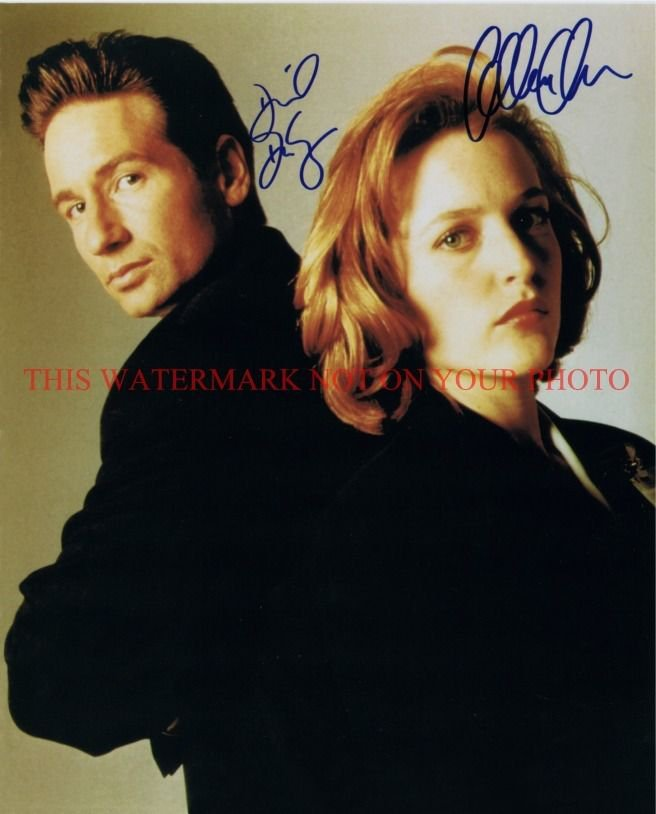 THE X FILES CAST SIGNED AUTOGRAPHED 8x10 RP PHOTO GILLIAN ANDERSON DAVID DUCHOVNY XFILE