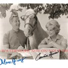 MR ED CAST AUTOGRAPHED 8x10 RP PHOTO ALAN YOUNG AND CONNIE HINES