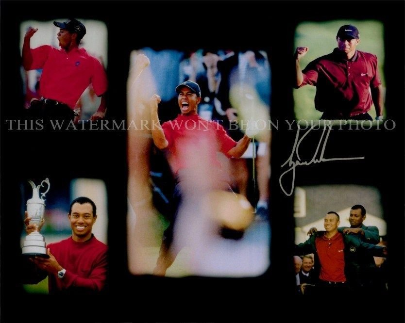 TIGER WOODS SIGNED AUTOGRAPHED 8x10 RPT PHOTO INCREDIBLE LEGENDARY GOLF PLAYER