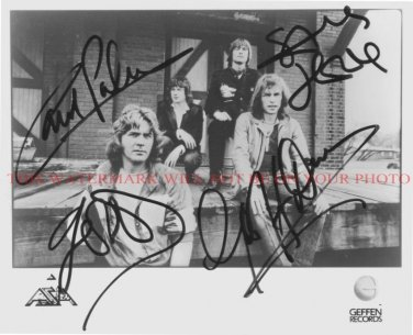 ASIA GROUP BAND AUTOGRAPHED 8x10 RP PROMO PHOTO GREAT 80's CLASSIC ROCK