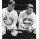 BABE RUTH AND LOU GEHRIG BASEBALL LEGENDS AUTOGRAPHED 8x10 RPT PHOTO