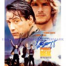 POINT BREAK CAST AUTOGRAPHED 8x10 RP PHOTO PATRICK SWAYZE AND KEANU REEVES