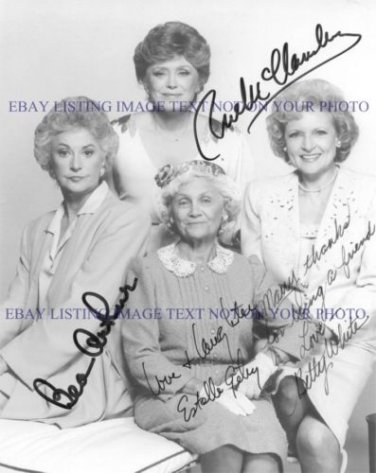 THE GOLDEN GIRLS CAST SIGNED AUTOGRAPHED 8x10 RP PHOTO BY ALL 4 BETTY WHITE BEA ARTHUR