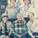 THE ANDY GRIFFITH SHOW CAST SIGNED AUTOGRAPHED 8x10 RP PHOTO BY 5 DON KNOTTS JIM NABORS