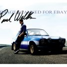"PAUL WALKER WITH BLUE CAR SIGNED AUTOGRAPHED 8""x10"" RP PHOTO SO COOL"