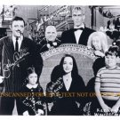 THE ADDAMS FAMILY FULL CAST AUTOGRAPHED 8x10 RP PROMOTIONAL PHOTO TED CASSIDY